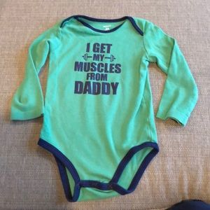 Carter's 'Muscles from my Daddy' Onesie 24 months